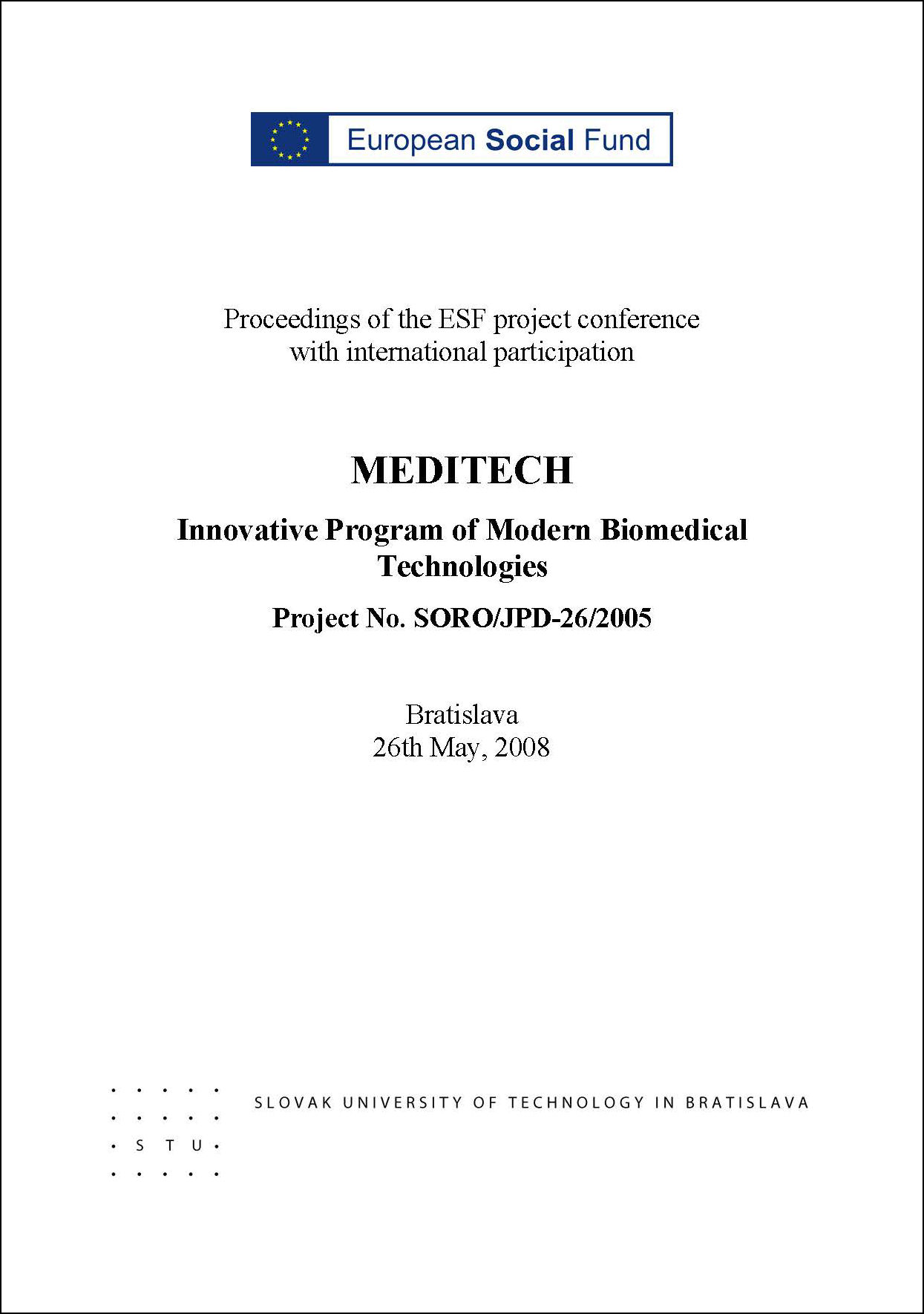 Meditech 2008 zborník