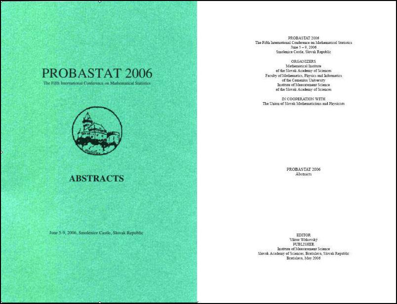 ProbaStat 2006 zborník